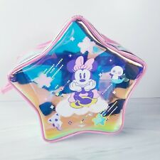 """Minnie Mouse Girls Star Swim Bag Backpack, Disney Store, 10"""" Pink Shimmer, NWT"""
