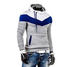 Mens Hoodie Sweatshirt Hooded Jumper Top Casual Sports Hoody Jacket Coat Outwear