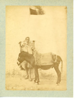 Magreb Bouricotier Vintage Print.  Tirage albuminé  10x14  Circa 1880