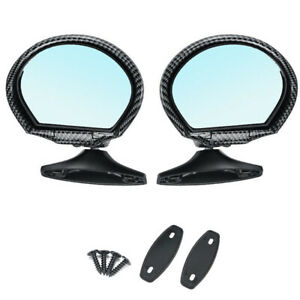 Classic Car Door Wing Side View Mirror Left+Right 2Pcs Adjustable Base w/Gaskets