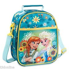 Authentic Disney Frozen Princess Anna Queen Elsa Girl Kids Lunch Tote School Bag