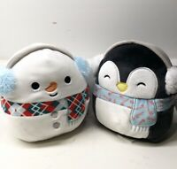 "Kellytoy Squishmallows 2020 Christmas Collection Manny & Luna 5"" Mini Plush Doll"