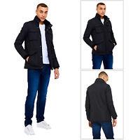 Threadbare Mens Designer Pontiac Multi Pocket Lightly Padded Windbreaker Jacket