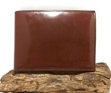 Authentic GUCCI Brown Patent Leather Bi-Fold Men Vintage Wallet