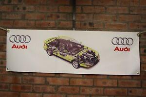 audi Coupe S2 car large pvc  WORK SHOP BANNER garage   SHOW