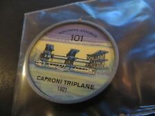 1961 JELL-O HOSTESS AIRPLANE SERIES COIN #101 CAPRONI TRIPLANE  HIGH GRADE