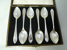 Art Deco Silver Teaspoons 83g Sheffield 1945 A602017