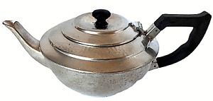 Argent Hammered Pewter English Teapot 1178 handmade; black handle & lid knob
