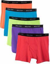 Bolter Men's Cotton Spandex All Day Boxer Briefs 5-Pack SIZE XXXL