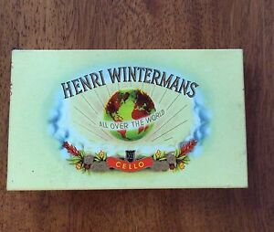 Henri Wintermans cello - Vintage cardboard cigar case