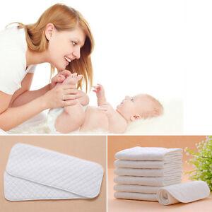 3 Layer Soaker Cloth Diaper Insert Liner 10pcs Hemp Organic Bamboo Cotton Fleece