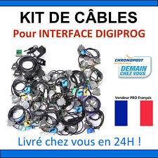 KIT COMPLET DE CABLES POUR DIGIPROG 3 - REPROGRAMMATION CORRECTION KILOMETRIQUE
