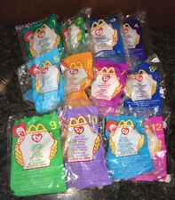 1999 McDonald's Happy Meal Toys Ty Beanie Babies Complete Set New