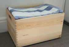 Large Wooden Crate With Handles Storage Box Case Trunk