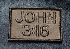 JOHN 3:16 CHRISTIAN JESUS GOD MORALE HOOK LOOP PATCH