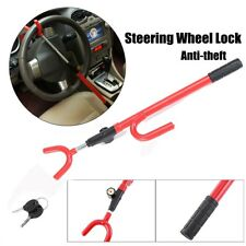 Steering Wheel Lock The Club Car Anti Theft Truck SUV Auto Van Universal RED NEW