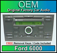 Ford 6000 CD player, Ford Mondeo car stereo headunit with radio removal keys