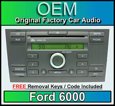 Ford 6000 Lecteur CD, Ford Mondeo Autoradio Autoradio avec Clés Extraction Radio
