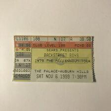 Backstreet Boys Palace Auburn Hills Detroit Concert Ticket Stub November 1999