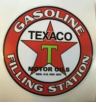 "4 3/4"" Texaco Gasoline Filling Station Decal NEW - FREE SHIPPING / *GAS & OIL"