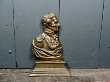 More details for antique victorian brass bust of the duke of wellington waterloo napoleon