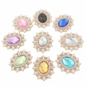 Rhinestone Buttons For Craft Sewing Clothing Decorative Embellishment Accessory