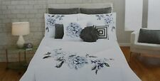 NEW Cynthia Rowley Duvet Set Blue and Gray Duvet plus 2 Standard Shams