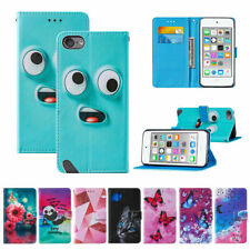 For iPod Touch 5/6/7th Gen Magnetic Leather Wallet Flip Case Cover