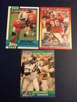 1990 Score Topps #334 Pro Set #671 CORTEZ KENNEDY ROOKIE Lot 3 Seahawks HOFER