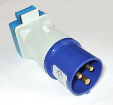 Hook Up adaptor unit Boat Caravan Motorhome blue 16A plug to 13A socket PO107S