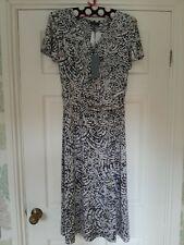 Ruth Langsford Ruched Detail Midi Dress Tall BN Size 16 Grey Print RRP £55