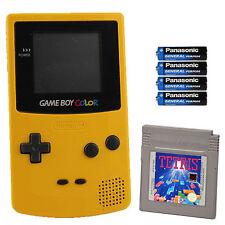 Gameboy Color- Konsole in Gelb Tetris +( mit neuer Bildschirmscheibe )