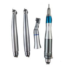 Dental Handpiece Kit 4 Hole 1 Low Speed 2 LED Optic High Speed Turbine Handpiece