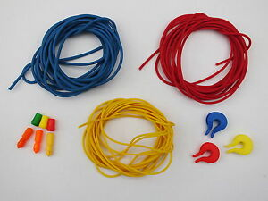 SETS OF 3 MIDDY POLE ELASTIC + BUSHES,CONNECTORS,DOUBRAYS,POWER,TOP KIT,FISHING