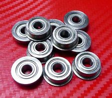 10pcs MF84zz (4x8x3mm) Metric Metal FLANGE Ball Bearing 4*8*3 MF84z