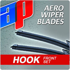 2× Aero Flat Windscreen Wiper Blades For Honda Jazz (02-08)