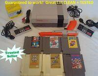 Nintendo NES Console Bundle NEW PIN Game Lot Super Mario 1 2 3 GOLD ZELDA + LINK