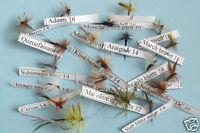 Sélection 20 mouches Sèches - seches - dry flies
