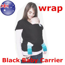 Black  Fashion  Wrap Infant Baby Carrier Sling Top 0-3 Years  Moby AU