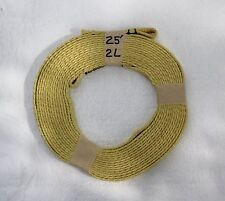 """7/16"""" Tubular Kevlar High Power Rocketry Recovery Harness with 2 Presewn Loops"""