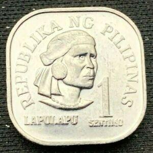 1977 Philippines   1 Sentimo UNC Coin    Aluminum    #K549