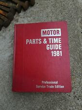 Motor Parts and Time Guide, 1988 Professional Service Trade Edition 1981-88