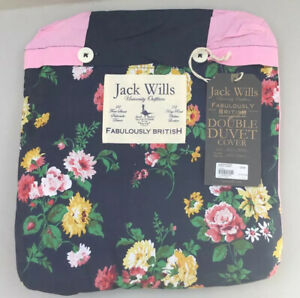 Jack Wills Eynsford Duvet Cover Double Floral/Stripes  Reversible New With Tags