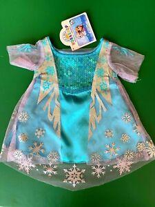 Build a Bear Clothing - Disney Frozen Elsa Costume Dress  - New