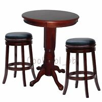 Cherry 3 Piece Backless Stool Pub Table Set Home Living Dining Room Furniture