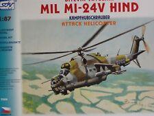SDV Kunststoff Modellbausatz 1:87 H0 MIL MI-24V HIND Kampfhubschrauber