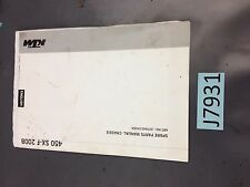 USED OEM KTM 2008 SPARE PARTS MANUAL: CHASSIS 450 SX-F 3CF8401H5EN  SALE