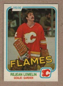 1981-82 Rejean Lemelin Hockey OPC Rookie #44 Mint High Grade Fresh Pack 2.99$