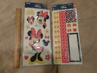 2 sets Disney Embossed Stickers Minnie Mouse  – NIP