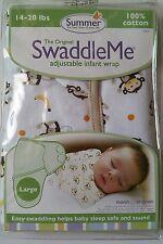Genuine Summer Infant SwaddleMe Swaddle Wrap Monkey  Print Large